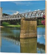 Waco Suspension Bridge 2 Wood Print