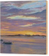 Wades Beach Sunset Wood Print
