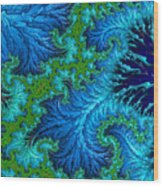 Fractal Art - Wading In The Deep Wood Print