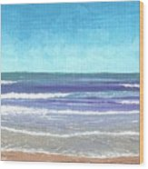 Wading Surf Wood Print