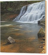 Wadsworth Falls Wood Print