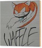 Waffle Wood Print