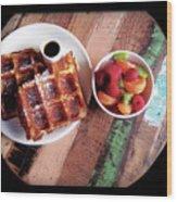 Waffles Wood Print