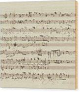 Wagner, Richard Autograph Working Drafts For Act I Of Der Fliegende Hollander Wood Print