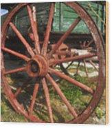 Wagon And Wheel Wood Print