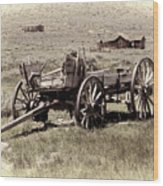 Wagon Ghost Town Wood Print