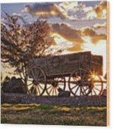 Wagon Hdr Wood Print