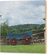 Wagon Hoa Wood Print