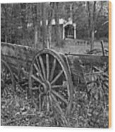 Wagon In The Woods Wood Print