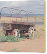 Wagon Of The West Wood Print