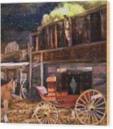 Wagon Repair Wood Print