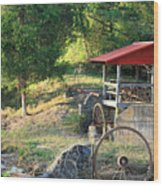 Wagon Shed Wood Print by Suzanne Gaff