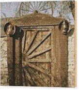 Wagon Wheel Gate Wood Print