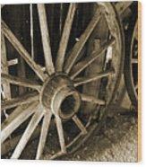 Wagon Wheels 3 Wood Print