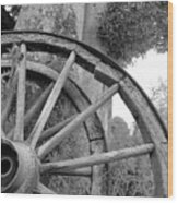 Wagon Wheels Wood Print