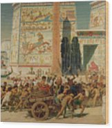 Wagons Detail From Israel In Egypt Wood Print