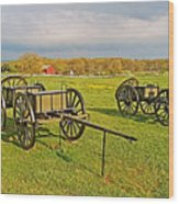 Wagons Used In The Civil War In Gettysburg National Military Park-pennsylvania Wood Print