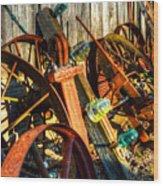 Wagons Whoa Wood Print