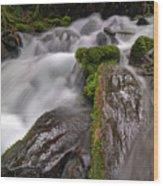 Wahkeena Creek Wood Print