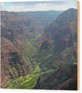 Waiamea Canyon Kauai Wood Print