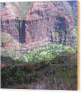 Waiamea Canyon Walls Wood Print