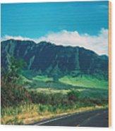 Waianae Mountains Wood Print