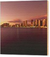 Waikiki At Twilight Wood Print