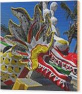 Waikiki Dragon Wood Print