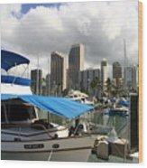 Waikiki Port Wood Print