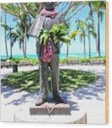 Waikiki Statue - Prince Kuhio Wood Print