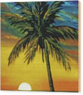 Waikiki Sunset #38 Wood Print
