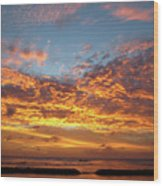 Waikiki Sunset Wood Print