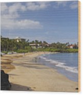 Wailea Beach Wood Print