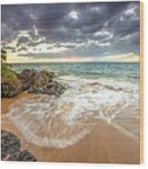 Wailea Sunset From Maui Wood Print