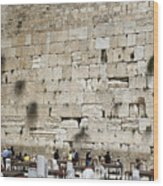 Wailing Wall In Jerusalem Wood Print