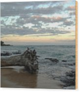 Wailua Bay  Wood Print