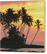 Wailua Bay, View Wood Print