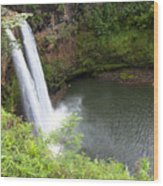 Wailua Falls, Kauai Wood Print