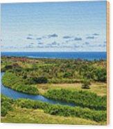 Wailua River Wood Print