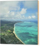 Waimanalo Bay Wood Print