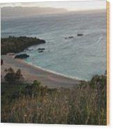Waimea Bay And Kaiena Point Wood Print