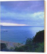 Waimea Bay Evening Wood Print