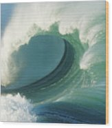 Waimea Bay Shorebreak Wood Print