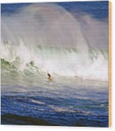 Waimea Bay Wave Wood Print