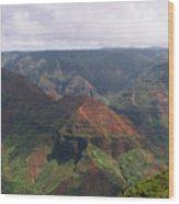 Waimea Canyon 2 Kauai Wood Print