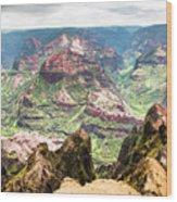 Waimea  Canyon Splendor,  Wood Print