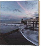 Waimea Pier Wood Print