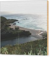 Waimea River And Bay Wood Print