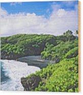 Wainapanapa State Park Wood Print