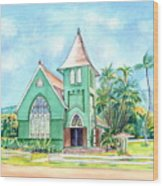 Wai'oli Hui'ia Church Wood Print
